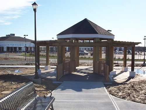 Finished Gazebo at Stop and Shop in Massachusetts
