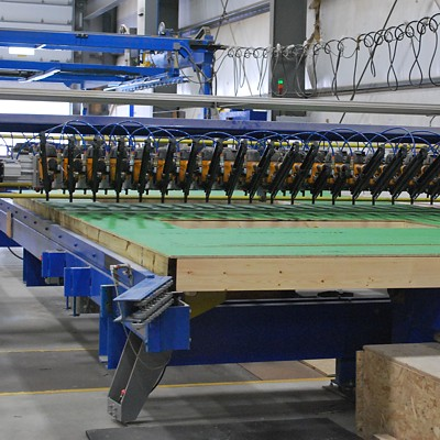 Automated Nailers used in wall panel manufacturing
