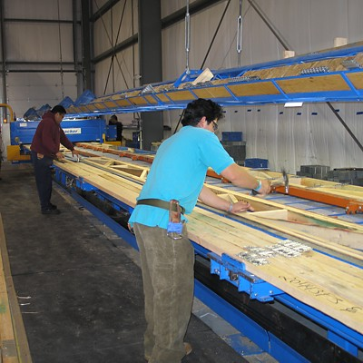 Floor truss manufacturing at Reliable Truss