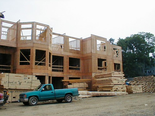 Wood Wall Panels and Wood Trusses Delivered to Stoneridge, Fairfield, CT